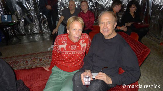 John Gilman and Robert Heide at the Warhol party