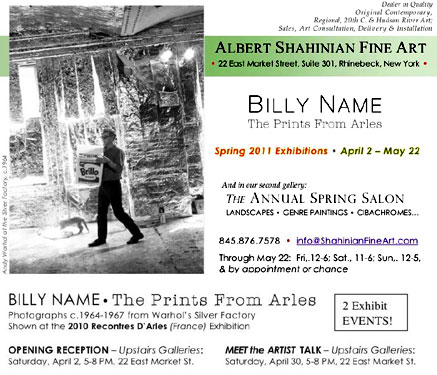 Billy Name at Albert Shahinian Fine Art flyer