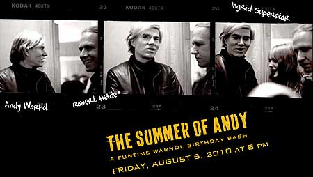 andy warhol birthday flyer