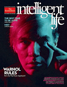Andy Warhol on cover of Intelligent Life