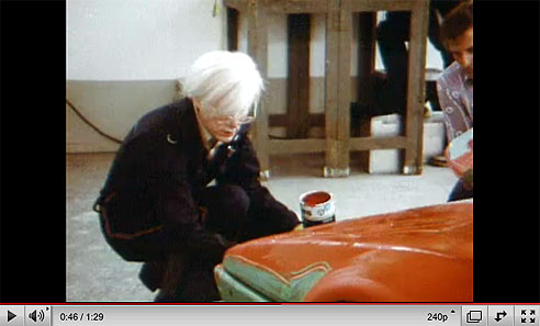 Andy Warhol painting a BMW on You Tube