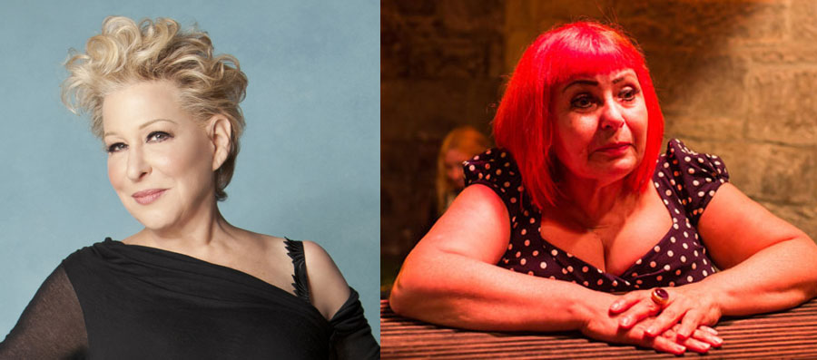 Bette Midler and Penny Arcade