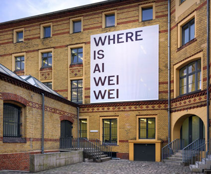 Ai Wei Wei protest banner