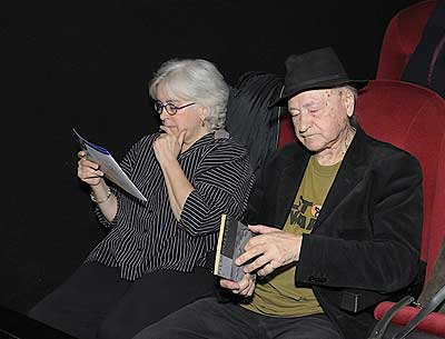 Callie Angell and Jonas Mekas