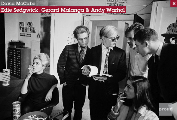 David McCabe photograph of Andy Warhol, Edie Sedgwick and others
