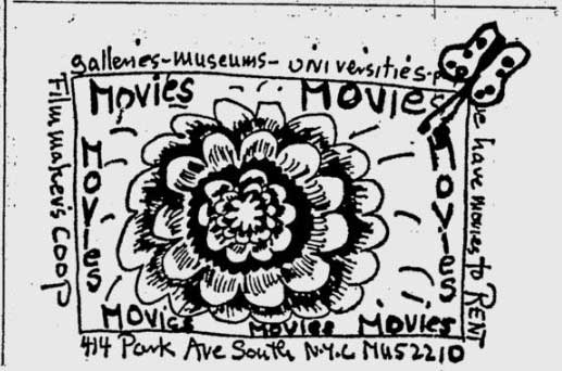 Filmmakers' Cooperative ad 1964