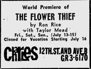 World premiere of the Flower Thief at the Charles