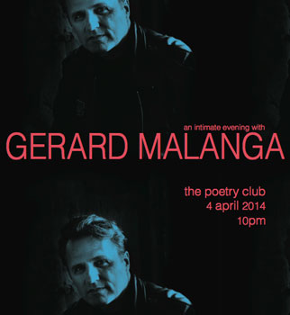 Gerard Malanga at the Poetry Club Glasgow