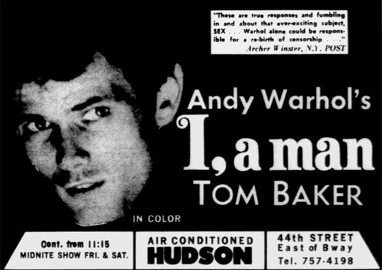 I, A Man by Andy Warhol - Village Voice ad