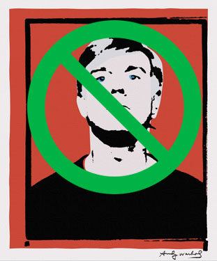 Andy Warhol Self-Portrait (not)