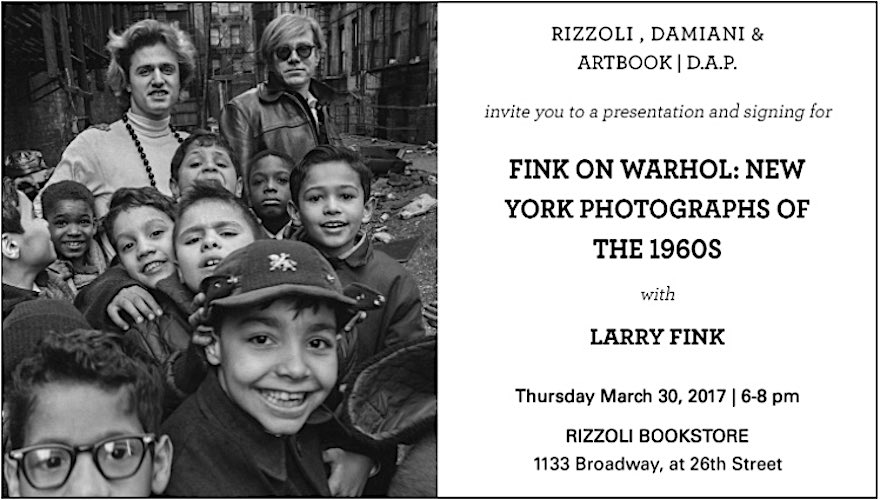 Larry Fink book on Andy Warhol