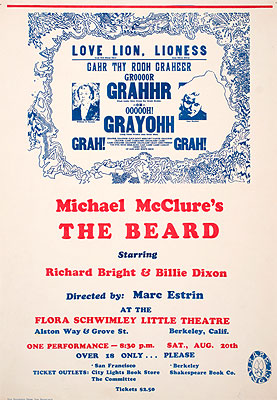 Michael McClure The Beard in Berkeley poster