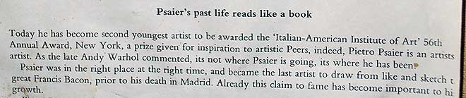 psaier artist of the year award document
