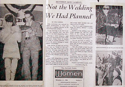 The Mod Wedding newspaper clip
