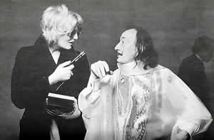 Candy Darling and Salvador Dali