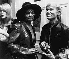 Ingrid Superstar and Andy Warhol