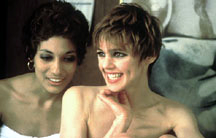 Pat Hartley and Edie Sedgwick