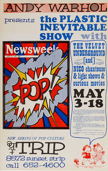 Andy Warhol and Velvet Underground at the Trip poster