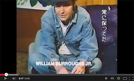 william burroughs jr. on you tube
