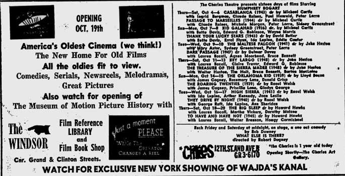 Windsor Theatre opening ad